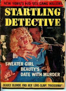 STARTLING DETECTIVE-DEC 1959-FR/G-SPICY-MURDER-RAPE-KIDNAP-SEX-GANGS FR/G