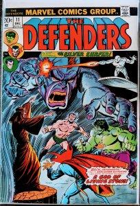 The Defenders #11 (1973) KEY BATTLE - SUB-MARINER. BLACK PANTHER KEY!
