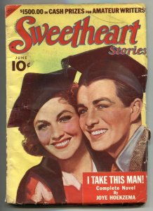Sweetheart Stories Pulp June 1939- I Take This Man- Graduation cover