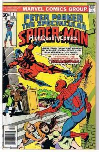 SPECTACULAR SPIDER-MAN #1, VF+, Tarantula, Orgin, 1976, more SM in store