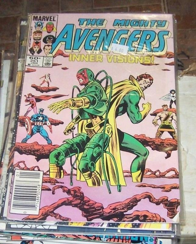 Avengers #251 (Jan 1985, Marvel) inner visions  low grade