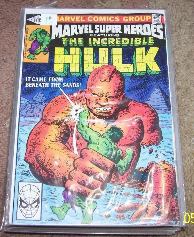 Marvel Super-Heroes #95 (Mar 1981, Marvel) incredible hulk 146  godspawn