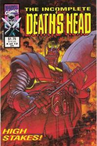 Incomplete Death's Head #4, VF+ (Stock photo)