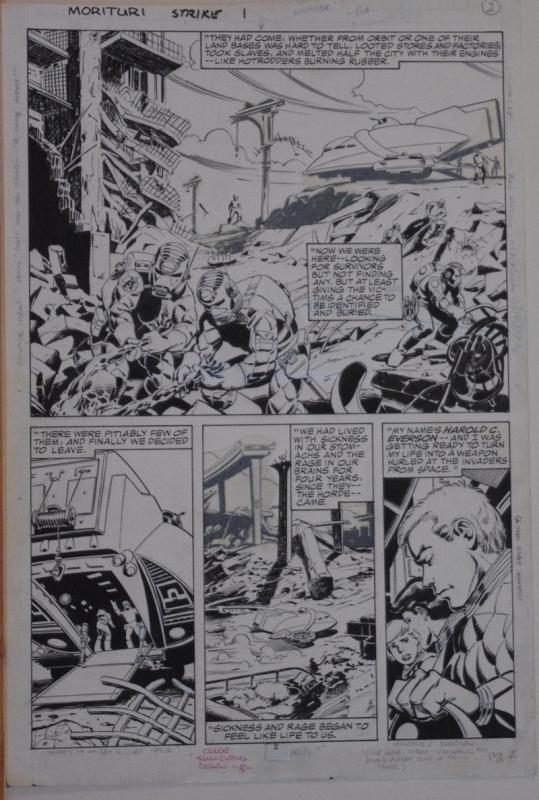 BRENT ANDERSON / SCOTT WILLIAMS original art, STRIKEFORCE MORITURI #1 pg 2,11x16