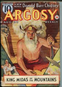 Argosy-8/20/1938-Munsey-Belarski skull cover-FN MINUS