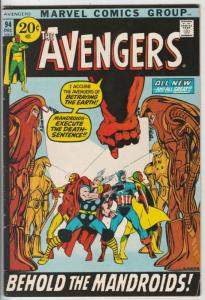 Avengers, The #94 (Dec-71) FN/VF Mid-High-Grade Avengers