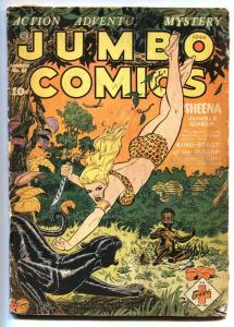 JUMBO #61-1944-FICTION HOUSE-SHEENA-GHOST GALLERY G/VG restored