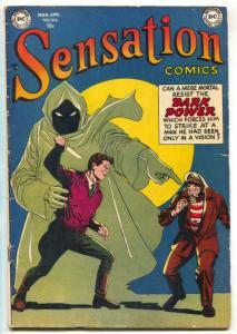 Sensation Comics #108 1952- 2nd Horror issue- Alex Toth RARE vg