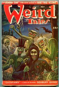 Weird Tales July 1946- Jules de Grandin- Matt Fox cover VG-