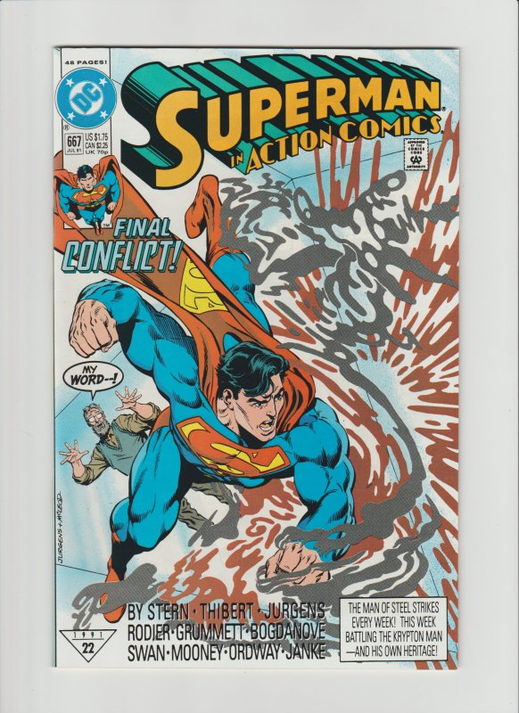 Action Comics #667 VF/NM 9.0 (1991, DC Comics) 48 Pages!