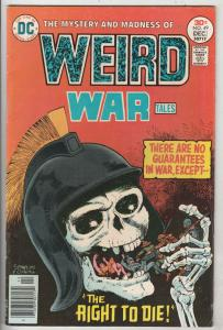 Weird War Tales Mark Jeweler Variant #49 (Dec-76) FN/VF Mid-High-Grade