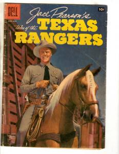 Texas Rangers #16 VG/FN Dell Silver Age Comic Book 1957 Jace Pearson Western JL9