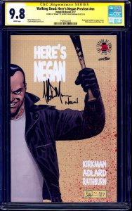 Walking Dead: Here's Negan Preview #1 CGC SS 9.8 signed by Jeffery Dean Morgan