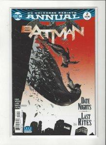 Batman Annual #2 DC Universe Rebirth DC Comics Unread NM