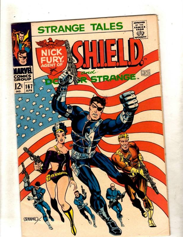 Strange Tales # 167 VF/NM Marvel Comic Book Dr Strange Nick Fury Shield JF11