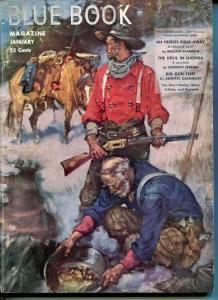 BLUE BOOK PULP-JAN 1949-VG/FN-CLARK COVER-JOEL REEVE-PERKINS-SMITH VG/FN