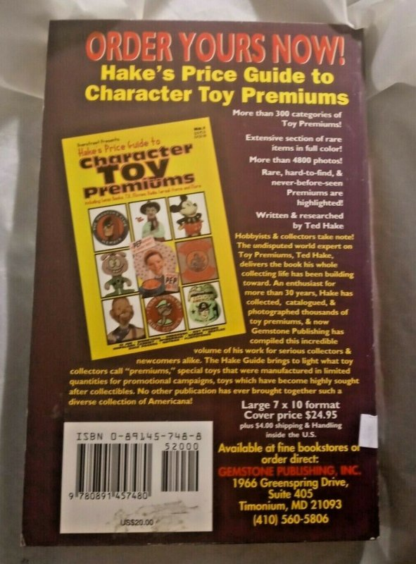 The Overstreet Toy Ring Price Guide 2nd Second Edition Book