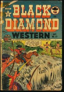 BLACK DIAMOND WESTERN #27-BASIL WOLVERTON-1951 G