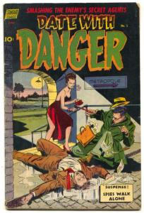 Date With Danger #5 1952-1st issue- NEEDLE TERROR STORY VG/F