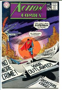 ACTION #368-SUPERMAN-DC-1968-paradise on Earth! FN-