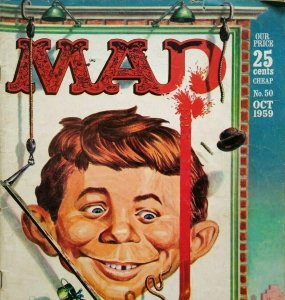 MAD Magazine Oct 1959 No 50 Nbc vs Cbs TV Baseball League Peter Gone Detective