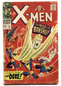 X-MEN-#28 comic book 1966 FIRST BANSHEE MARVEL incomplete