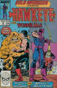 SOLO AVENGERS #13, VF/NM, Hawkeye, Wonderman, Marvel, 1987 1988 more in store