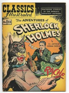 Classics Illustrated #33 The Adventures of Sherlock Holmes FN/VF HRN 53