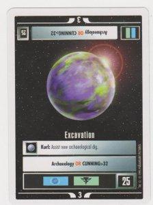 1995 Star Trek Trading Game Card - Excavation