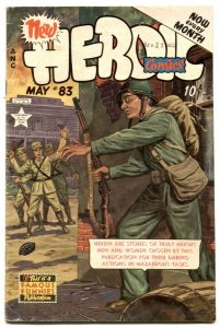 Heroic Comics #83 1953- FRAZETTA ad- Golden Age VG