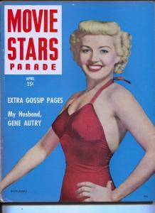 Movie Stars Parade-Betty Grable-Richard Basehart-Gene Autry-Apr-1949