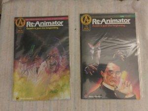 Lot of 2 Adventure Comics Re-Animator #1 & 3 From 1991 Movie - h.p. lovecraft NM