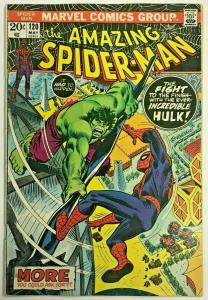 AMAZING SPIDER-MAN#120 FN 1973 VS THE HULK MARVEL BRONZE AGE COMICS