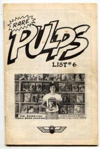 American Comic Book Co Pulp Catalog #6 1977 rare