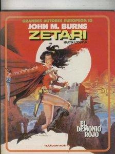 Grandes Autores Europeos numero 10: Zetari: El demonio rojo