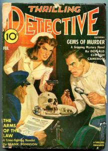 Thrilling Detective February 1942- Dentist cover- Frank Johnson G/VG