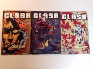 Clash 1-3 Complete Near Mint Lot Set Run Tom Veitch Adam Kubert