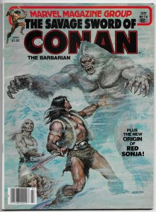 Savage Sword Of Conan Magazine #78 Norem Cvr | Buscema (Marvel, 1982) FN/VF