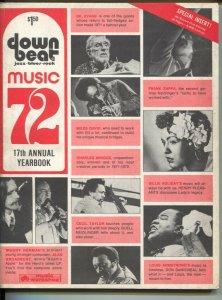 Down Beat's Music Yearbook 1972-Zappa-Miles Davis-pix-infp trends-music stars-VG