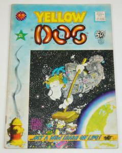 Yellow Dog #21 VG (1st) george metzger - JUSTIN GREEN print mint underground