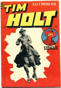 TIM HOLT #29-1952-EARLY APPEARANCE GHOST RIDER-REDMASK VS THE BLACK DOMINO