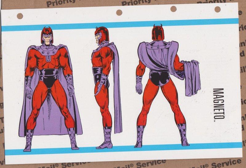 Official Handbook of the Marvel Universe Sheet- Magneto