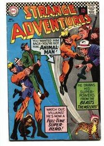 Strange Adventures #195 1966- 1st Full ANIMAL MAN- DC Silver Age vg-