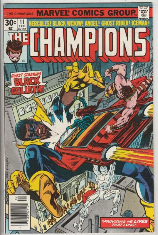 Champions, The #11 (Oct-76) NM- High-Grade Ghost Rider, Hercules, Black Widow...