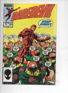 DAREDEVIL #209 VF/NM  Murdock, Without Fear, 1964 1984, more Marvel in store