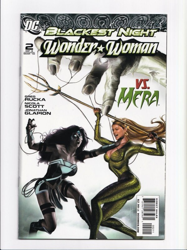 Wonder Woman 1 - 3 Blackest Night Complete Set DC Comics 2010 Series Unread NM