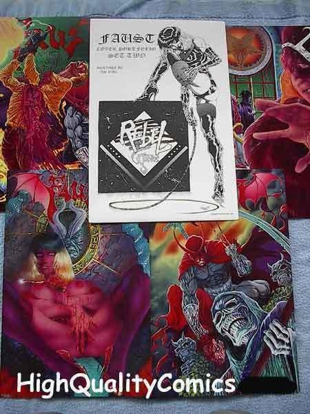 FAUST PORTFOLIO Set 2, NM, Tim Vigil, Good Girls, Femme Fatale, 1992, Signed