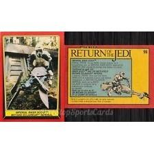 1983 Topps RETURN OF THE JEDI - IMPERIAL BIKER SCOUT #96