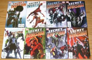 Secret Invasion #1-8 VF/NM complete series + (4) one-shots - avengers - bendis