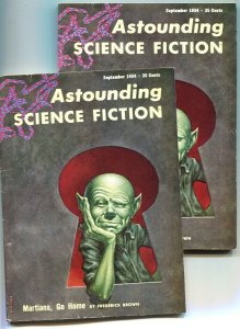 ASTOUNDING SCIENCE FICTION-SEPT 1954-VERY RARE PULP MAGAZINE DOUBLE COVER